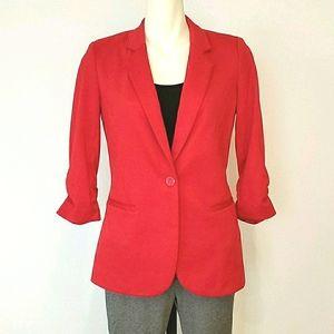Ricki's Red Jacket Blazer 3/4 Sleeves, Size Small